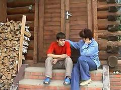 Russian Auntie And Nephew
