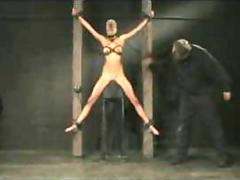 Breast bondage spanking and nipple torture