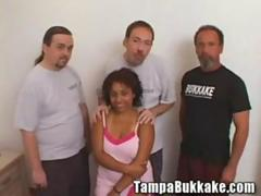 Busty Teen Shorty 3 Cock Tag Teamed