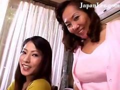 Sexy Japanese babes in a kinky lesbian threesome