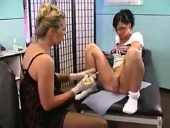 Bitch Dildos Her Ass At Piercing Parlor