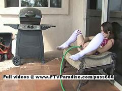 Denise ftv girls,  playing with water feature