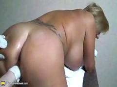 Mommy getting fisted doggystyle