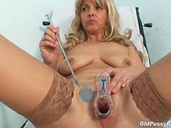 Granny Jirina fingered by an old gyno doctor