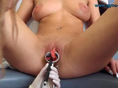 Gyno exam of natural breasts girl clip