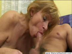 Old bitch getting her pussy stuffed and slammed