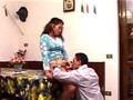 Italian Latina Taboo sex with step Brother in front of old uncle