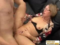 Nasty librarian granny fulfills her best sex wishes