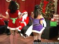 Santa and Jack Frost Playing with Naughty Sluts