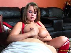 Brandy Talore Gives Handjob