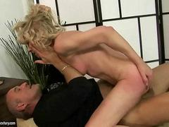 Hot grandma getting fucked pretty hard video