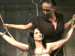 Mistress Mandy Bright dominating slavegirl