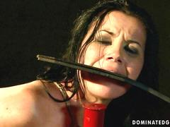 Girl getting painfully punished and fucked