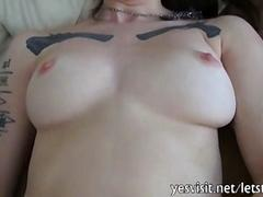 Stunning tattooed gf first time anal sex