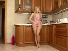 Strip blonde teen naked
