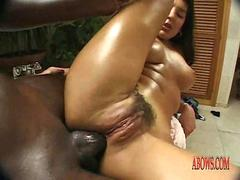 Hairy black pussy anal