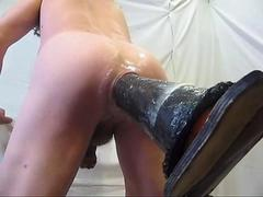 Giant horse dildo fucks my hot ass