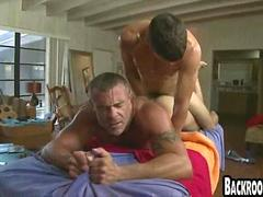 Young jock fucking an older masseur doggystyle