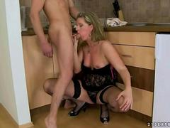 Hot milf enjoys nasty sex with her young lover