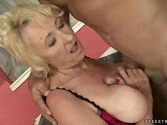 Busty mature chick gets fucked hard by a dude