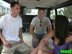 Pornstar Jayden Jaymes Sucks 2 Randoms on the Hump Bus