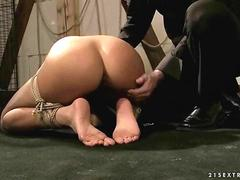 Hot sex slave getting anal fucked segment