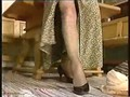 Mature Woman PUtting Pantyhose On