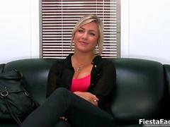 Cute blonde casting girl gets fucked movie