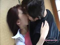 2 Asian Girls Kissing Spitting Sucking Tongues On The Floor In The Roo