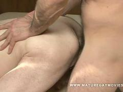 Hairy old man Fucks His athletic Masseur