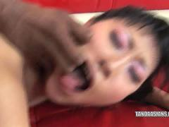 Asian slut Yuki takes some black dick