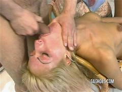 Skinny Tall Model Gets Throat Fucked