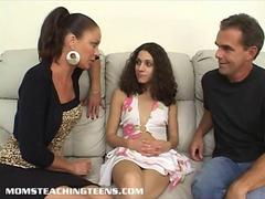 Teen Missy gets analed hard under the guidance of Milf Vanessa