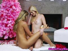 Charlotte Stokely fingers Jessie Andrews pussy
