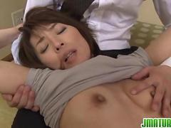 Hisae Has Two Guys To Suck And Fuck
