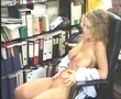 Curly blonde Librarian gets boned on her desk