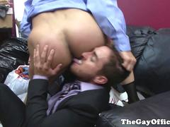 Muscular Office Hunk Fucked By His Boss