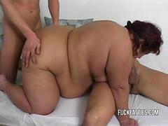 BBW babe ready for two dicks