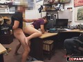 Latina shoplifter fucked in a pawn shop office