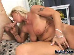 Mature blonde Renata is hot for this cock