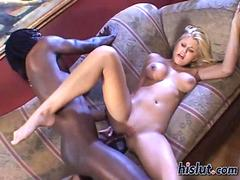 Blonde babe Stacys pussy gets ravaged with a bbc