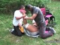 Rough threesome in the meadow