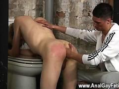 Calvin Croft gets spanked and fisted in a dungeon