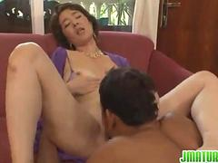 Smoking mature receives a good fuck