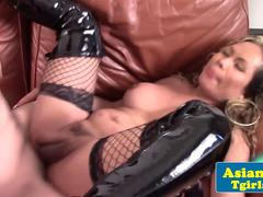 Asian tgirl kayla gets her ass fucked