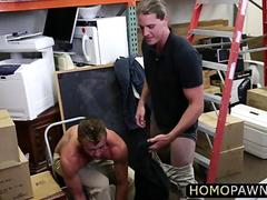 Hot and sporty Musician dude encounters ass fucking in the shop