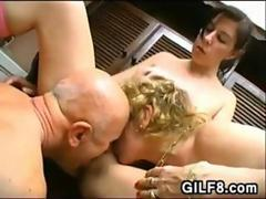 Young Girl In A Threesome With An Old Couple