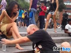 Public Foot Worship In New York City