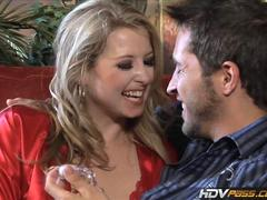 HDVPass Sexy blonde babe Sunny Lane sucks and rides lucky guy
