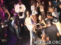 Ebony chick fucked in the middle of the party